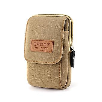 Canvas Matkapuhelin laukku, Lompakko Kotelo, Vyö kännykkä pussi tasku, Käsilaukku