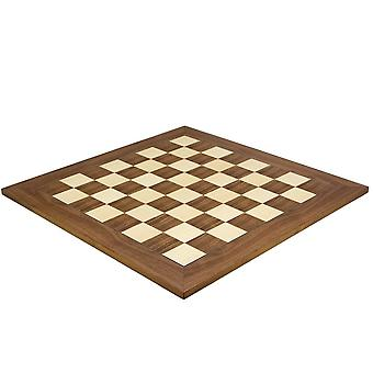 21.7 tums valnöt och lönn Deluxe schackbräde