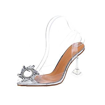 Luxury Pumps Transparent High Heels Sexy Pointed Toe Slip-on Wedding Party