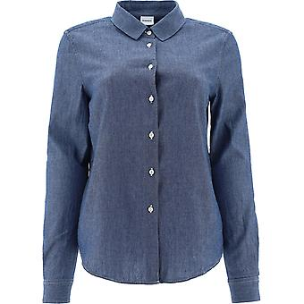 Aspesi H715e54201031 Damen's blaue Scotton Shirt