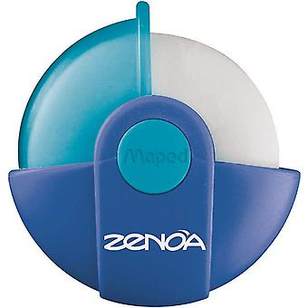 Maped zenoa rotary eraser with protective case