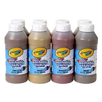 Peinture lavable, 8 couleurs multiculturelles assorties, bouteilles de 8 oz