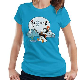 Woody Woodpecker Chilly Willy Fishing Women's T-Shirt