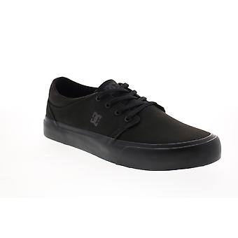 DC Trase Tx  Mens Black Canvas Skate Inspired Sneakers Shoes