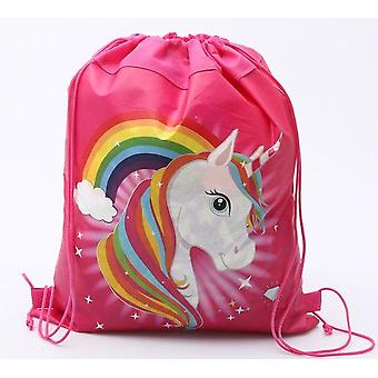 Unicorn Drawstring Bag Fortravel Storage Package / Cartoon School Backpacks