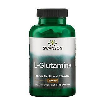 L-Glutamine, 500mg 100 capsules