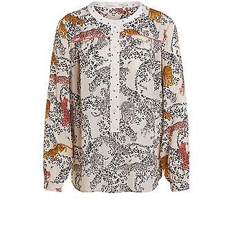 Blusa de design de leopardo oui