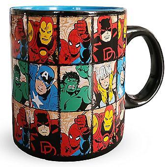 Marvel Comics Repeated Heroes se enfrenta a una taza de cerámica de 20 onzas