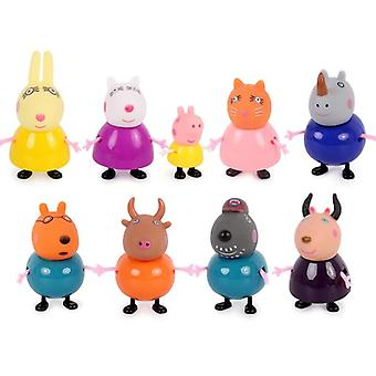 Pig Cartoon George Family Pack Papa Maman Action Figure Original Anime