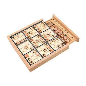 Giocattolo Sudoku a nove griglie quadrate in legno, scheda giocattolo da tavolo per puzzle di allenamento con pensiero logico per bambini