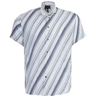 Emporio Armani Op Art Modal Short Sleeve Shirt - White
