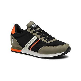 Shoes U.S. Polo Sneaker Brandon 2 Mesh Eco Leather Black/ Grey Men Us21up18
