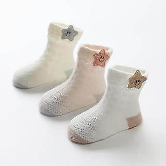 3 Pairs/lot Baby Thin Cotton Models Socks