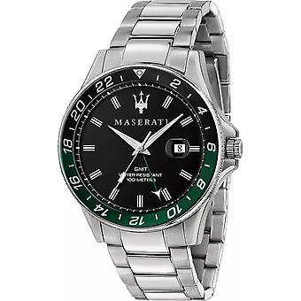 Maserati R8853140005 Montre bracelet en acier Sfida GMT Homme
