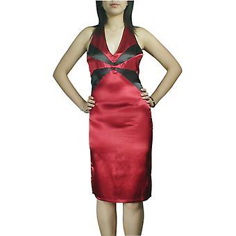 Chic Star Backless Halter Blyant Kjole i rødt