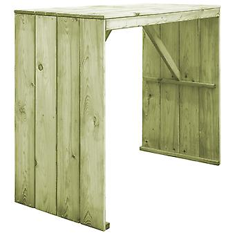 Bar Table 130x60x110 Cm Impregnated Pinewood