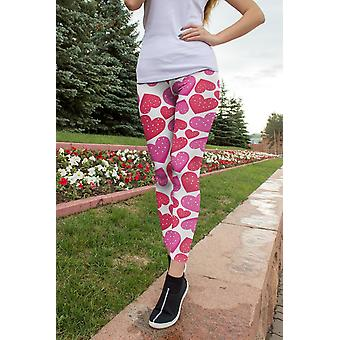 Candy Hearts leggings, capris og shorts