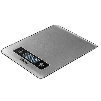 kitchen scale digital 17 x 22 cm stainless steel silver