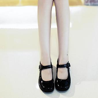 Söta Lolita läderskor, Japan School Uniform Skor