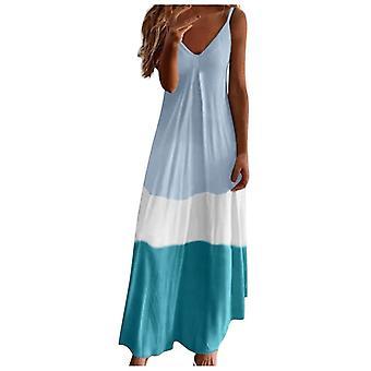 Sexy Stitching Maxi Dress, Bohemian Dress's