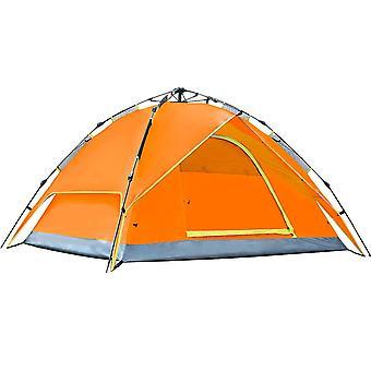 3-4 Personer dobbelt lag vandtæt åndbart automatisk telt med taske