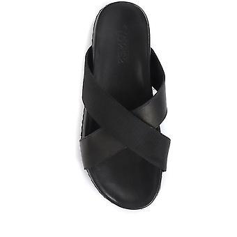 Jones Bootmaker Miesten Wyatt nahka muuli sandaalit