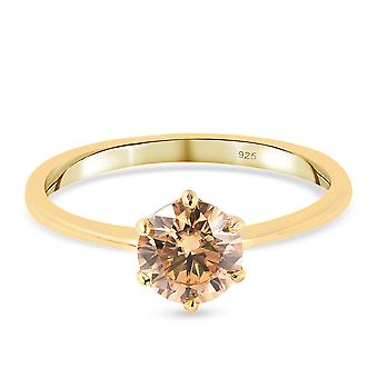 TJC Moissanite Engagement Solitaire Ring for kvinder Sterling Silver 1ct