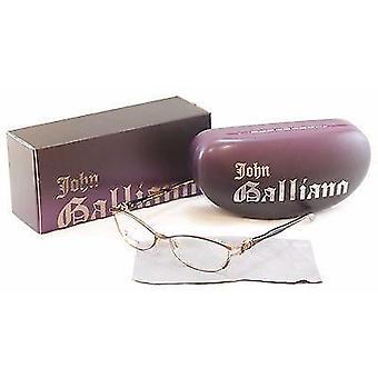 John Galliano Eyeglasses Frame JG5007 045 Metal Plastic Gold Italy 54-16-135