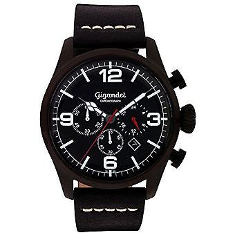 Gigandet Mens Quartz Chronograph Analog wristwatch with black leather strap G20-003