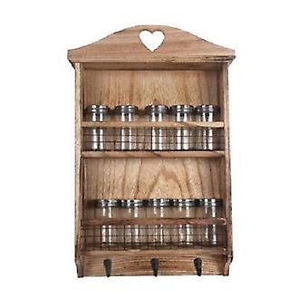 Wooden Spice Wall Rack
