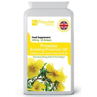 Evening Primrose Oil 1000mg 90 Capsules | Made In UK by Prowise