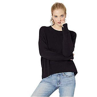 Marke - Tägliche Ritual Frauen's 100 % Baumwolle Boxy Crewneck Pullover Pullover Pullover