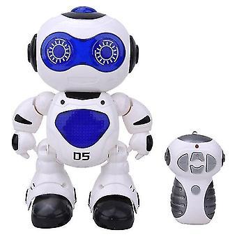 Pre 1/12 RC Robot Science RC Smart Stunt Talking Interactive Voice Mini RC Robot Hračky| RC Robot(Modrý) WS17962