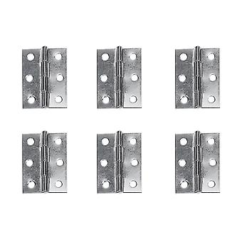 Silver 10pcs stainless steel window cupboard hinges connectors (silver) dt2595