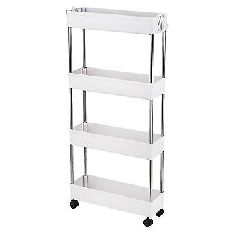 4 Tier Utility Cart With Casters Wheels