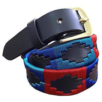 Carlos díaz premium de cuero marrón bordado diseñador flaco gaucho polo cinturón awo23461