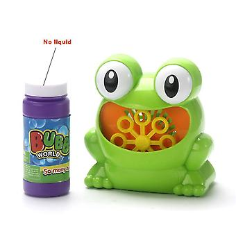 Cute frog bubble machine outdoor toy for kids bubble blowing toys