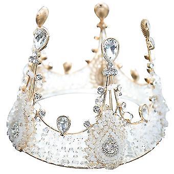 כתרים טיארה קריסטל המלכה הנסיכה דיאדם תכשיטי כלה חתונה כיסוי ראש