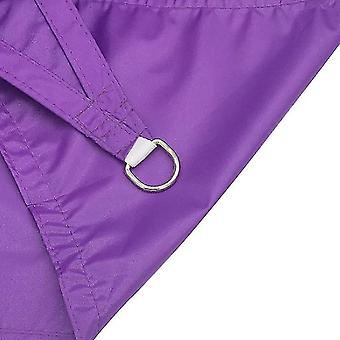 Outdoor Shade Sail Patio Sunscreen Awning Garden Sun Canopy 98% UV Block(Purple)