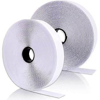 Doppelseitig Klettband Klettverschluss Extra Stark Haftkraft 5m Flauschband Hakenband Selbstklebend