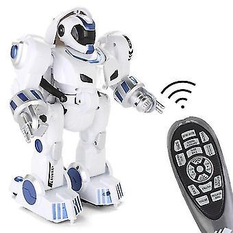 Deformation Intelligent RC Robot Wireless Remote Toys Interact With Children|RC Robot(White)