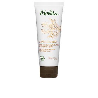 Melvita L'Argan Bio Crème Mains Veloutée 75 Ml För kvinnor