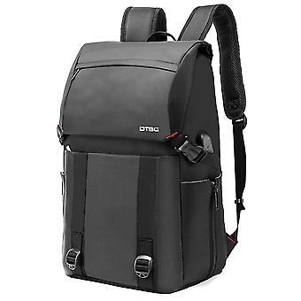 Professional Business Laptop Backpack  Hiking Travel Backpack Slim School Bookbag Water-resistant Casual Rucksack-grey