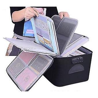 حقيبة حامل وثيقة ذات سعة كبيرة، منظم إدراج حقيبة يد
