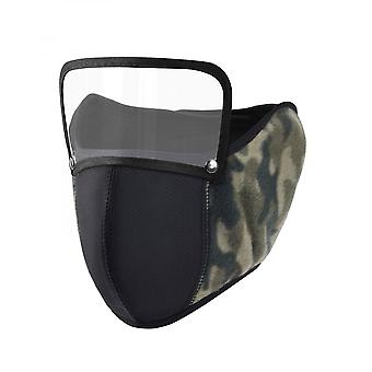 Winter Warm Breathable Mouth Cover Ear Protectors Half Face Mask With Shield