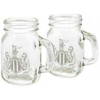 Newcastle United FC 2pk Mason Shot Glass Set