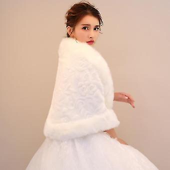 Zimní šátek šátky Shrug Cloak Cover-up Svatební bunda (slonovina Bílá M)