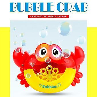Automatische Krabbenblase Maschine Musical Bubble Maker Licht Elektrische Blase Machen Bad Baby Spielzeug Spaß