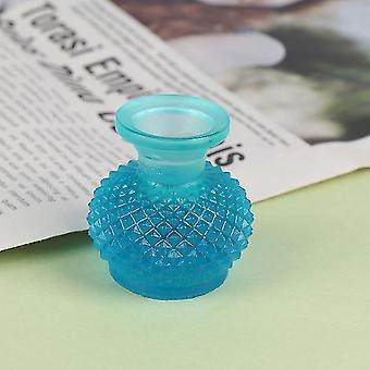 1/2/5/6Pcs / Lot süße Vintage Porzellan Blumentopf Vase Glas 1: 12 Maßstab handgefertigte Puppenhaus Miniatur