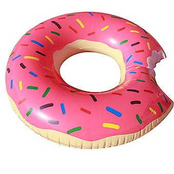 Giant Strawberry Donut Inflatable Swim Ring, Large Summer Pool Beach Toy, Adult Swimming Tube Pool Float